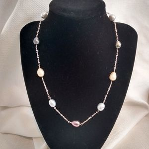 SX 925 Silver and Pearl Necklace